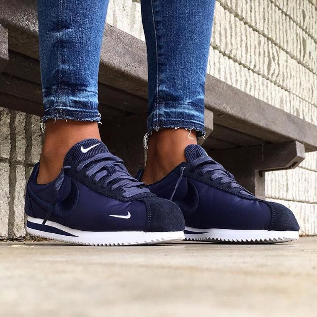low priced 29a68 6aec1 Nike Cortez Blue, Nike Cortez Shoes, Nike Classic Cortez, Blue Nike, Running