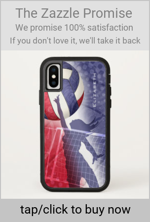 Personalized Red White And Blue Womens Volleyball Case Mate Iphone Case Zazzle Com Volleyball Player Gifts Women Volleyball Volleyball Gifts