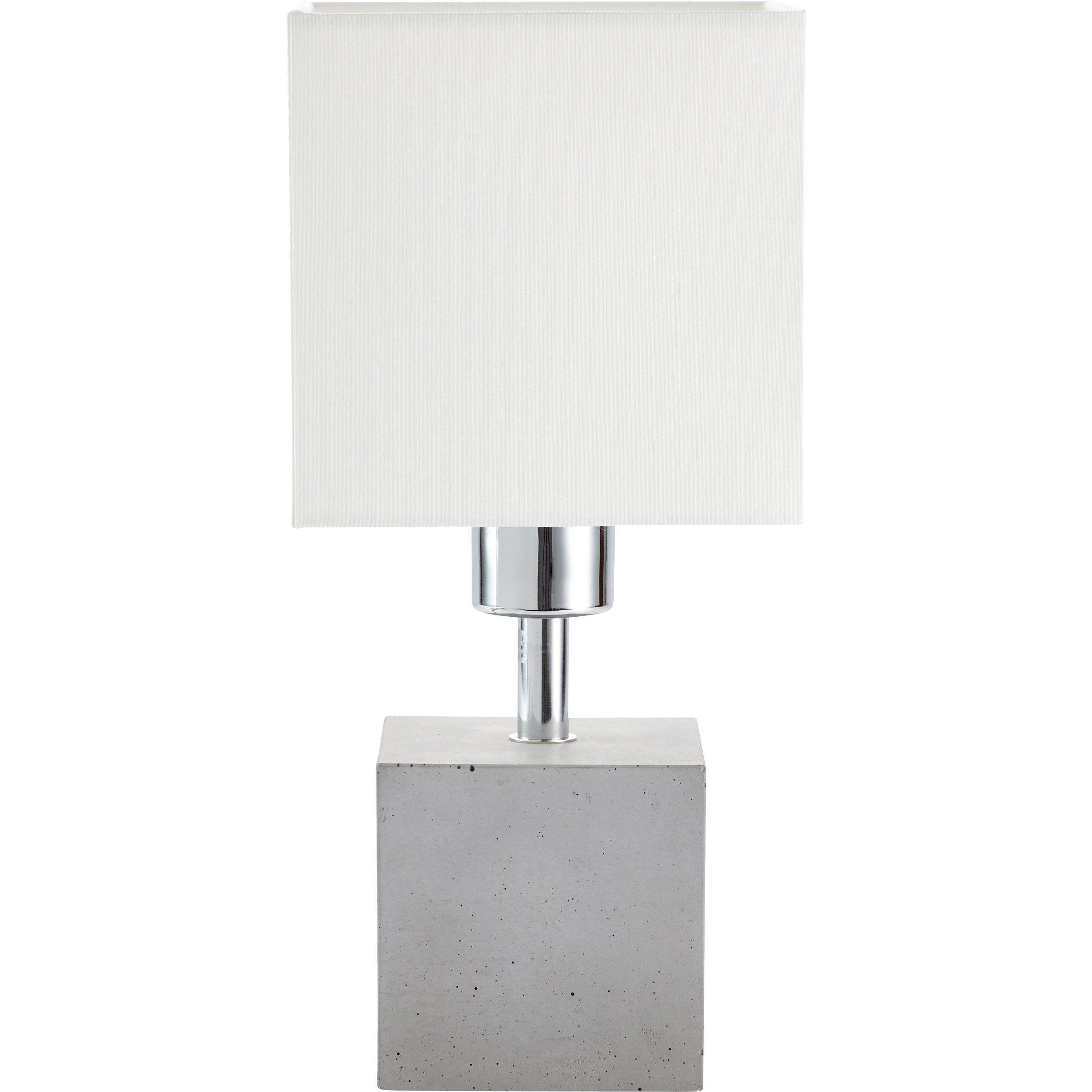 Lampe Moderne Beton Gris Blanc Brilliant Plant Cubique Gris
