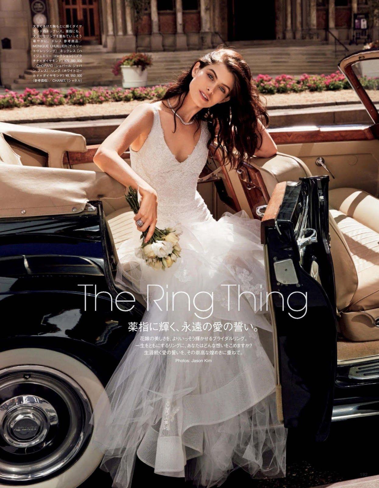 Pamela Bernier for Vogue Japan Wedding December 2015