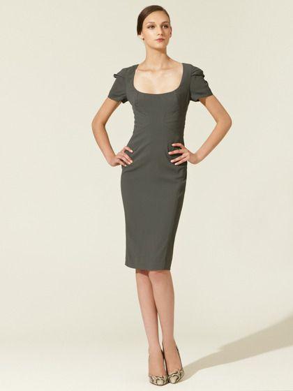 Woven Crepe Paneled Long Dress by Zac Posen