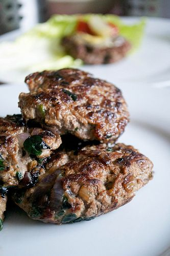lamb spinach and red onion burgers portrait by joeybinx77, via Flickr