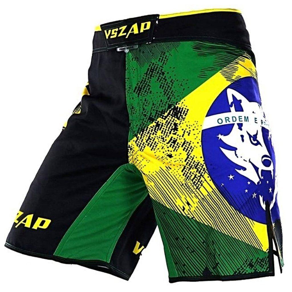New Vszap MMA Men Shorts Grey Wolf Kick Boxing Figthing Pants Muay Thay Fight
