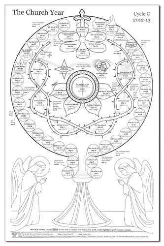 Liturgical Calendar Coloring Page