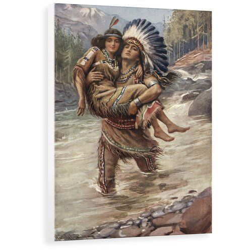 East Urban Home Poster Hiawatha und Minnehaha von Harold Copping | Wayfair.de