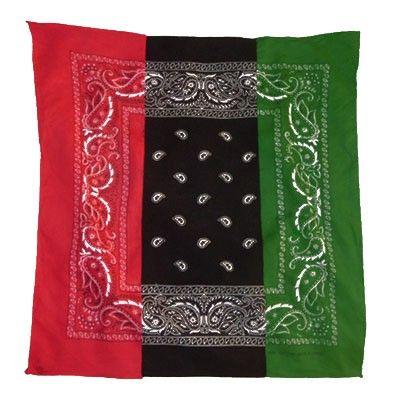 Rbg Bandana Red Black Green Black And Red Red Rbg