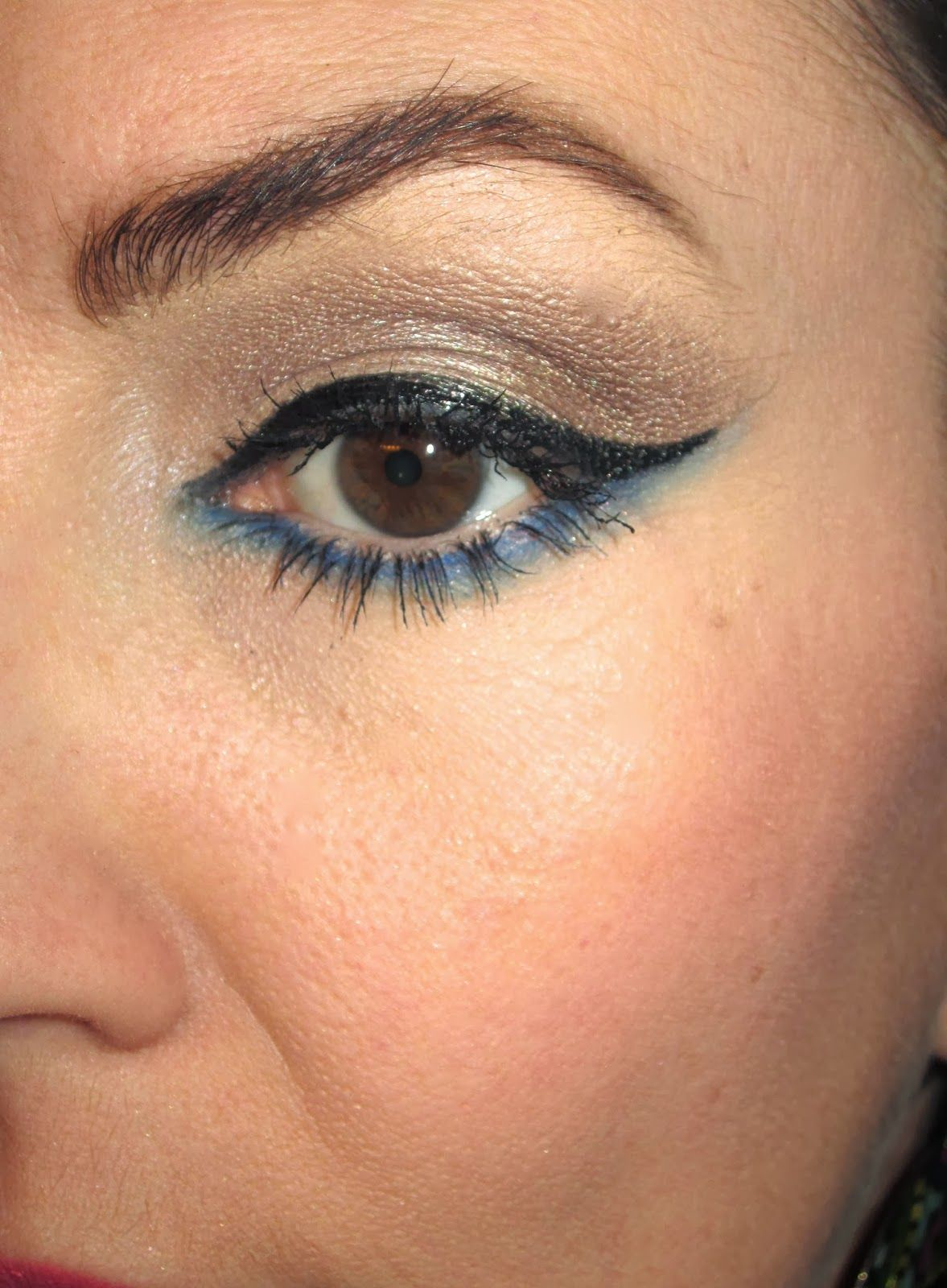I love adding a pop of color along the lower lash line
