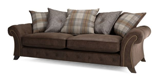Woodland Seater Pillow Back Sofa Oakland DFS Chocolate - Sofa center oakland