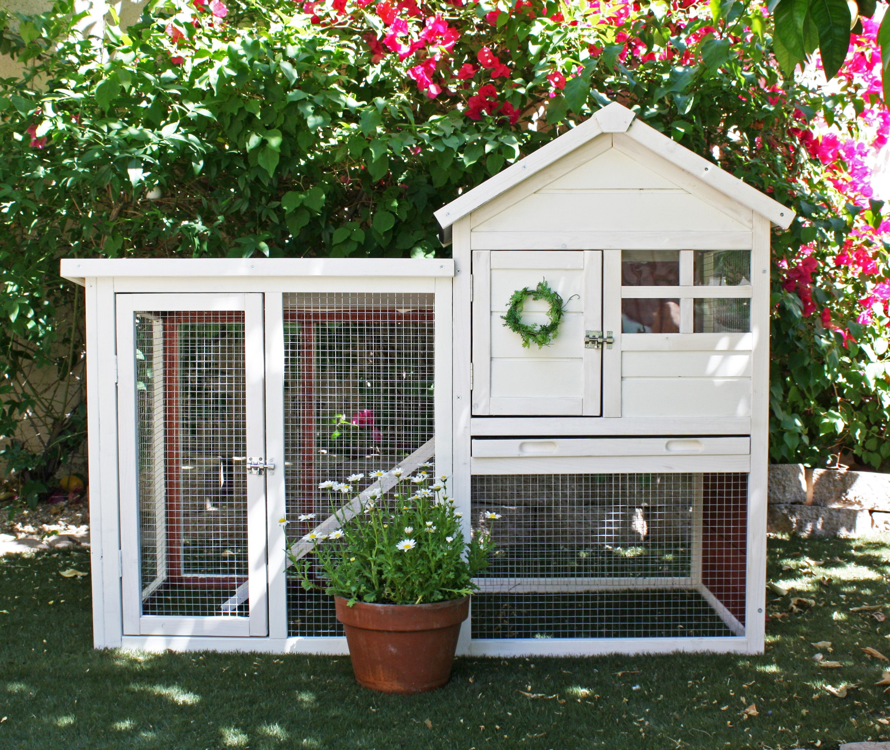 a new home for outdoor animals painted and decorated http