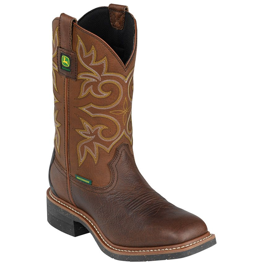 John Deere Men's Waterproof ... Steel-Toe Western Work Boots 5Vo4pF