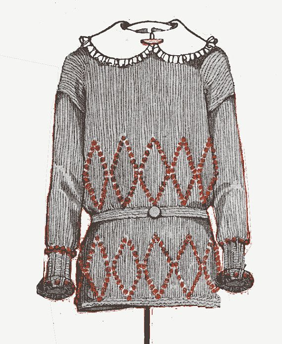 1920s flapper sweater knitting pattern PDF - Wool Slip-On ...