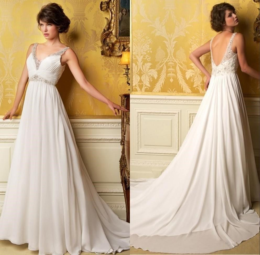 White/Ivory New Wedding Dresses Bridal Gowns Custom Size 2-4-6-8-10-12-14-16-18+