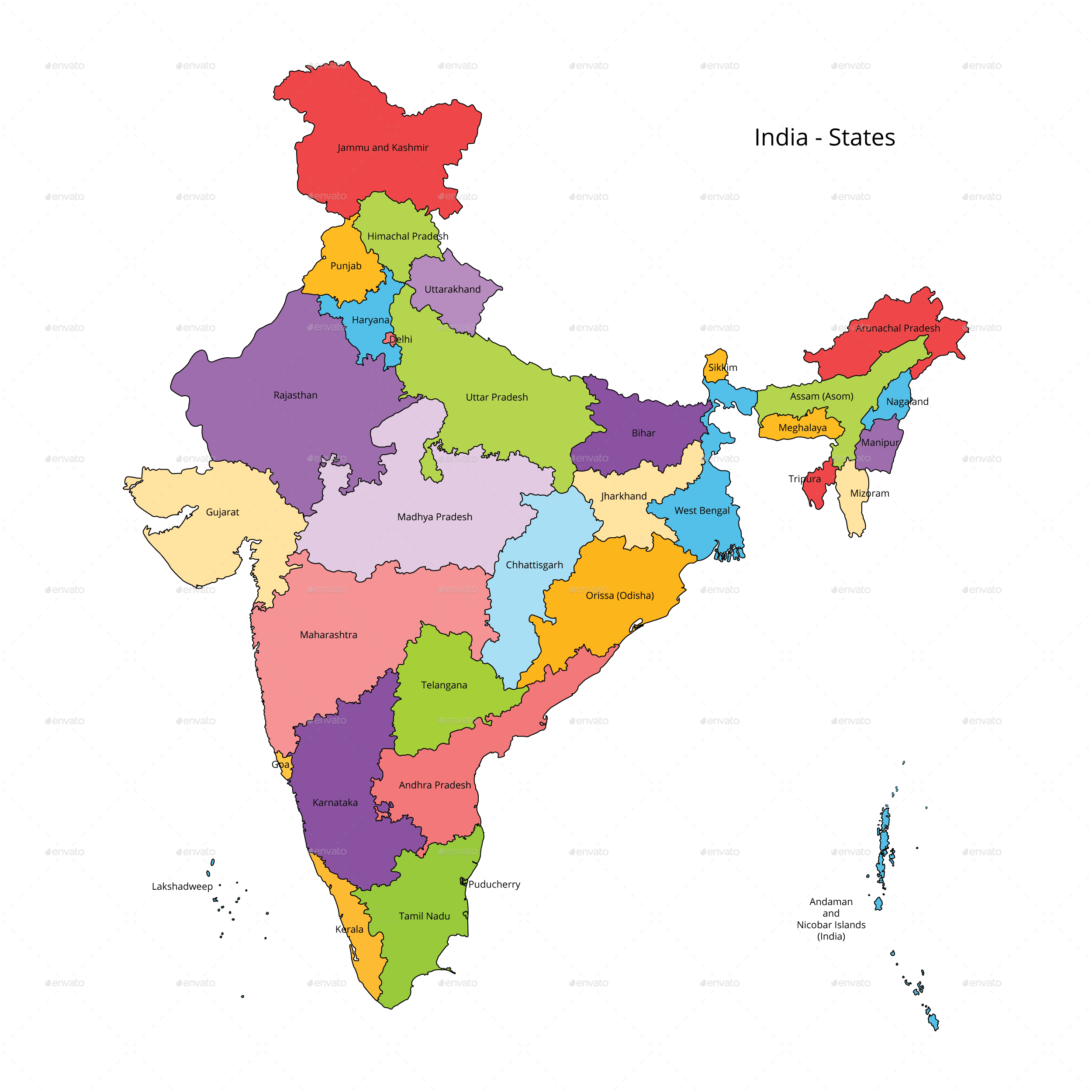 India States Map And Outline Ad States Ad India