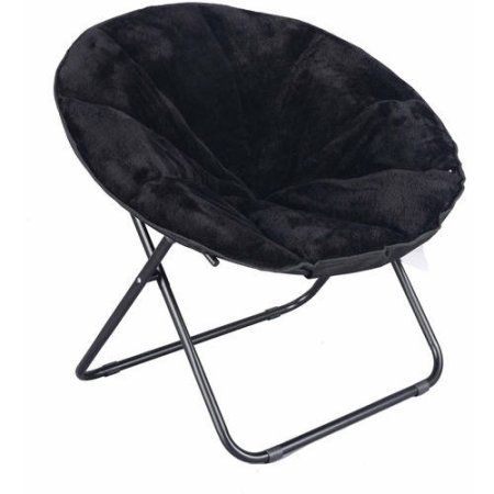 walmart fold out chair outdoor composite rocking chairs mainstays plush saucer multiple colors com