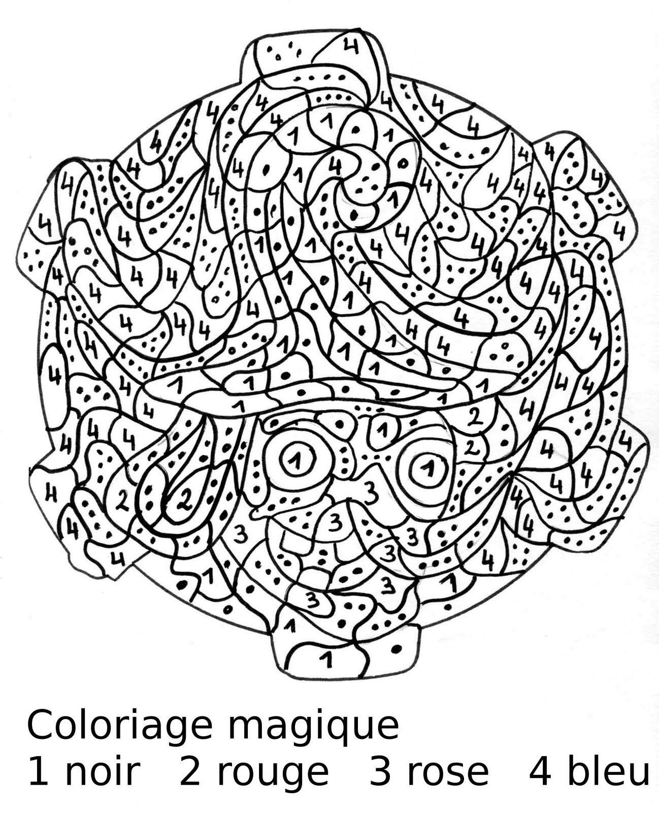 Maternelle Coloriage magique portrait de sorci¨re au chapeau