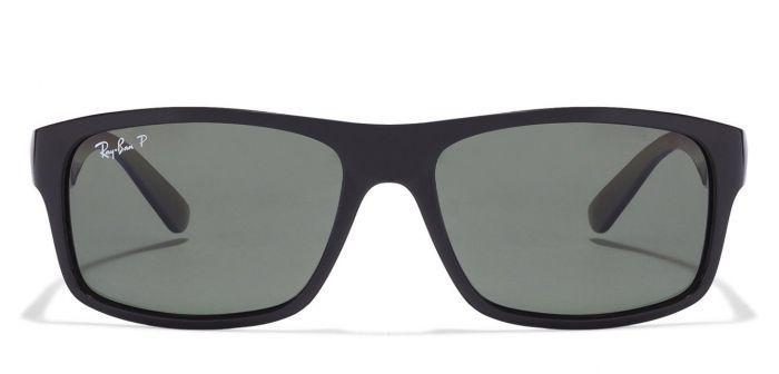 f0b6990991b1e ... hot ray ban rb4205 601 9a black frame with polarized green lens unisex  rectangle sunglasses black