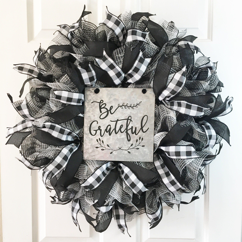 Photo of Fall Wreath, Autumn Wreath,Buffalo Check Wreath, Thanksgiving Wreath, Farmhouse Wreath,Buffalo Plaid Wreath,  Buffalo Check Decor
