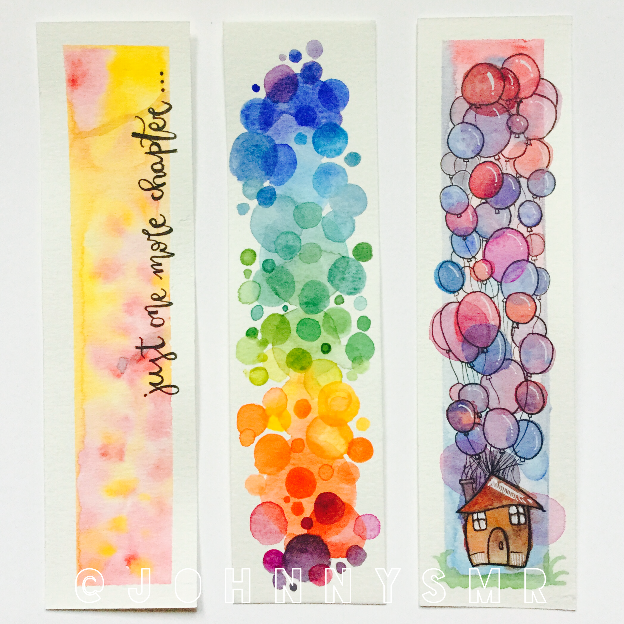 Watercolour Bookmarks Creative Bookmarks Watercolor Bookmarks Bookmarks Handmade
