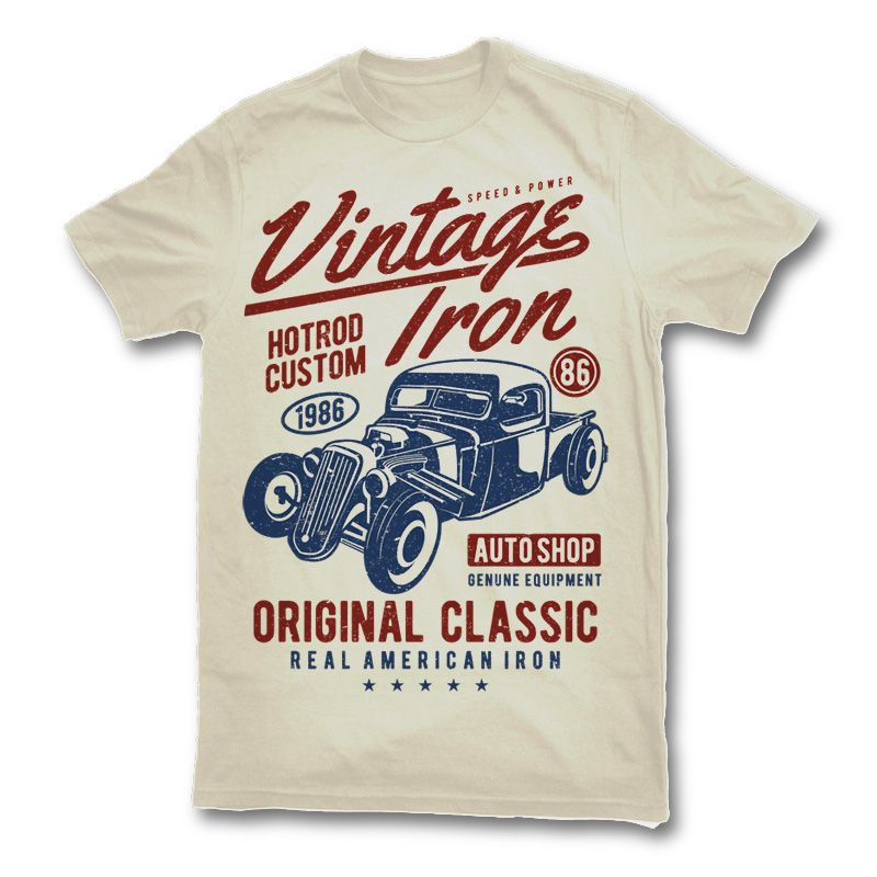 Vintage Iron T-shirt design | T-Shirts | Pinterest | Shirt designs ...