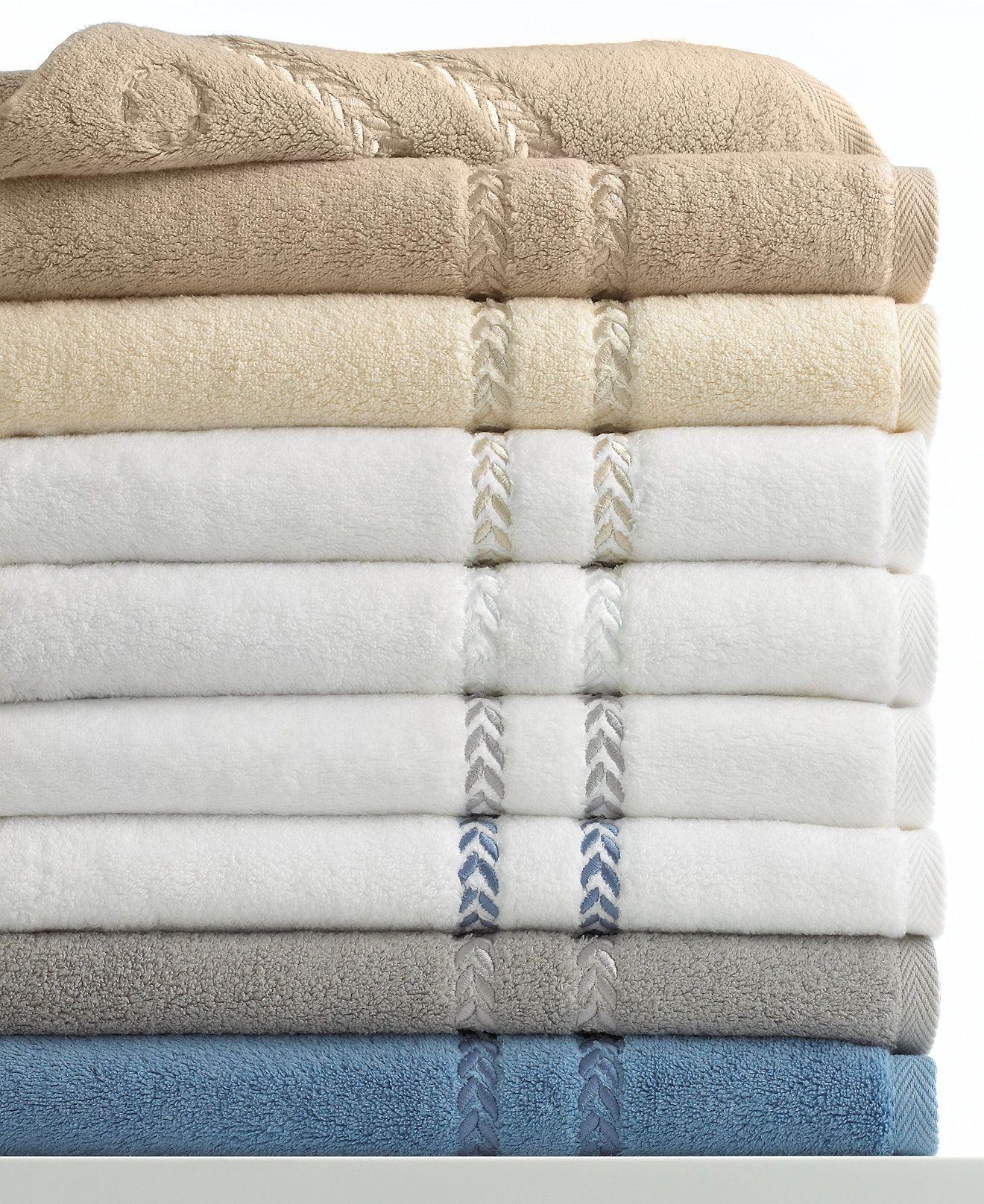 Lenox Pearl Essence Bath Towel Collection Pima Cotton Bath