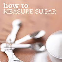 There are a lot of different sugars and all need to be measured differently: http://www.bhg.com/recipes/how-to/bake/how-to-measure-sugar/?socsrc=bhgpin072014howtomeasuresugar