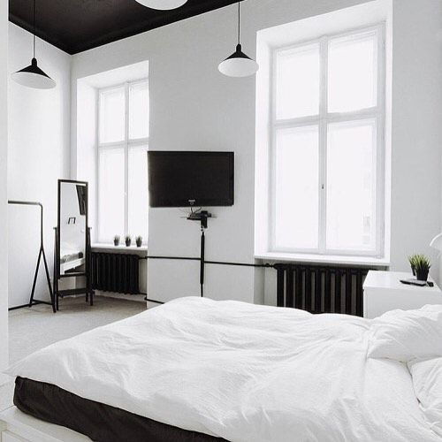 Furniture  Bedrooms  Black and white bedroom is part of Simple bedroom Black - Home Decor   Bedrooms  Black and white bedroom   simple   Harper and Harley Read More