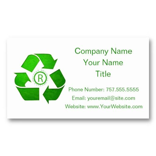 Recycle Logo By Shirley Taylor Business Card Zazzle Com Recycle Logo Logos Business Card Logo