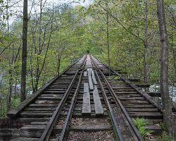 Sulphite Railroad Upside Down Covered Bridge Nh Cb 62