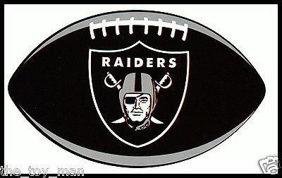 OAKLAND RAIDERS OVAL FOOTBALL NFL LICENSED TEAM LOGO INDOOR DECAL STICKER  Sticker Shop c8d1073685f