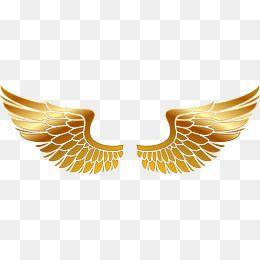 Golden Wings Hand Painted Golden Vector Material Wings Vector Png Vector Material Vector Wings Png Wings Artwork Wings
