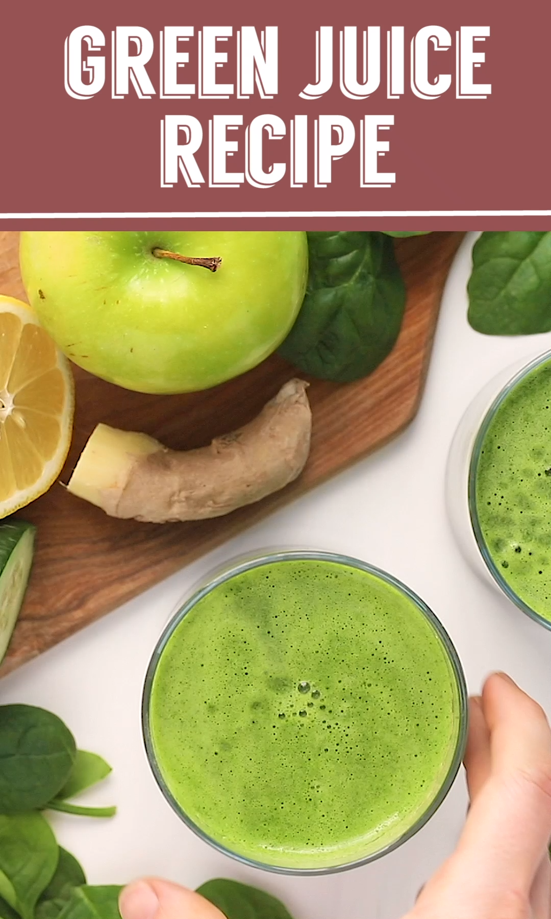 The BEST Green Juice Recipe #healthyjuicerecipes