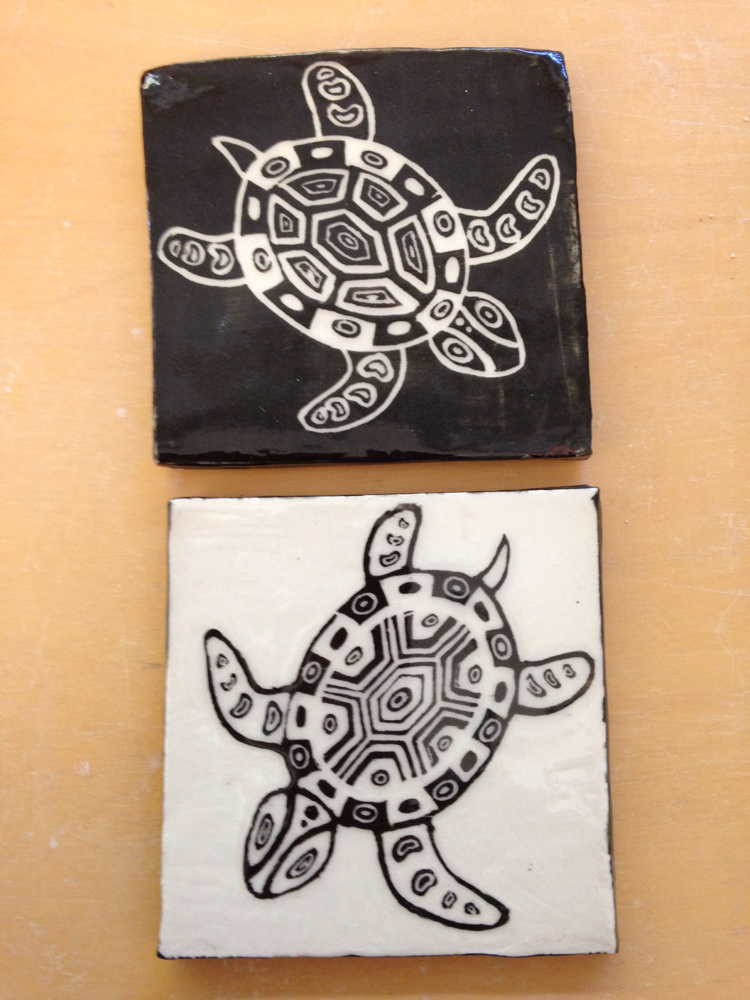 More sgraffito tiles | Student Ceramics | Pinterest ...
