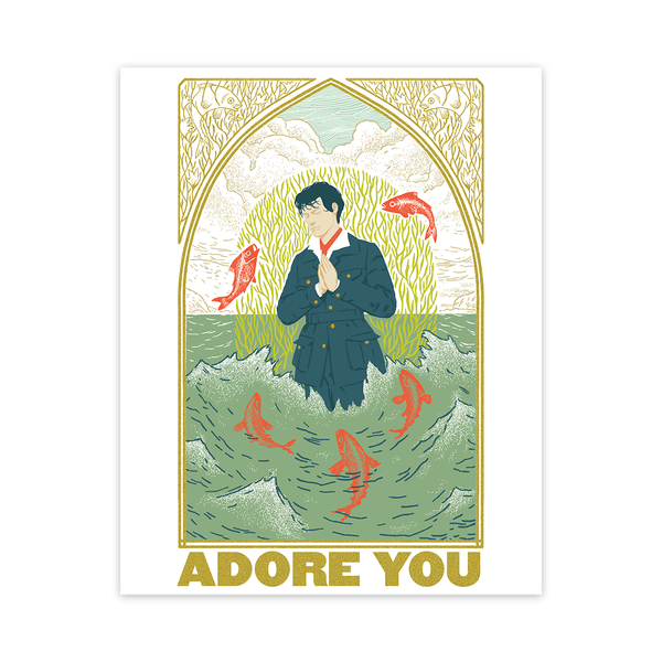 Limited Edition Silk Screened Adore You Poster Digital Download Harry Styles Us Harry Styles Poster Adore You Print Stickers