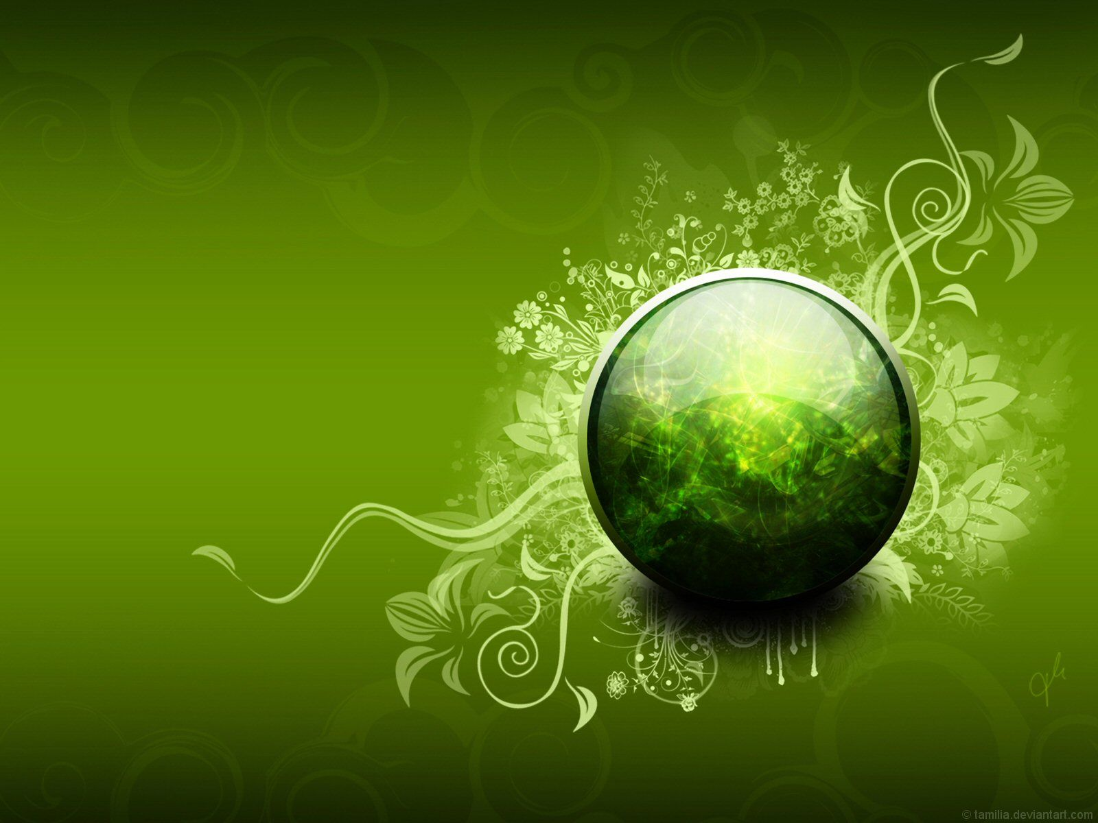beautiful pictures of items in the color green Free