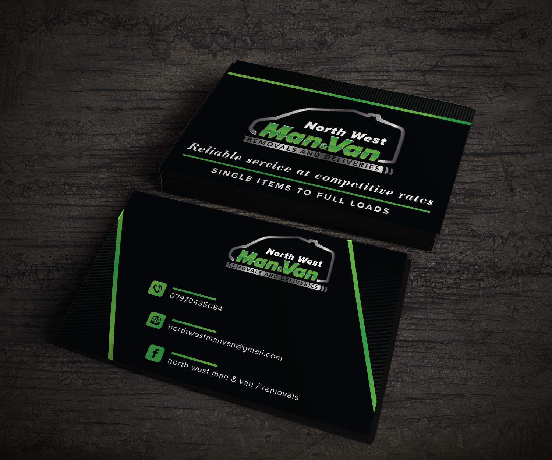 North West Man & Van business card design By Aizer Graphic Designer ...