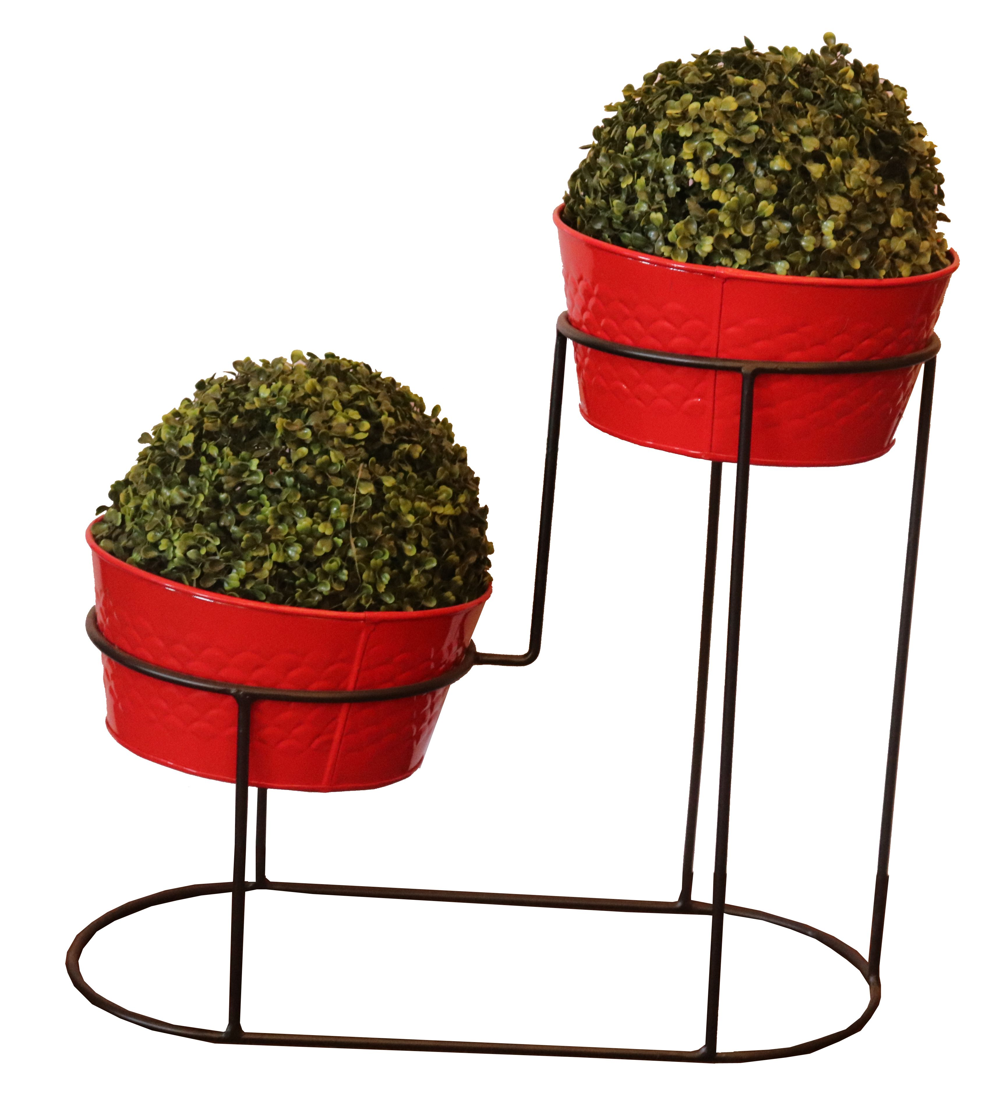 Planter Stand Size Height 20 Inch Width 23 Inch Pot Size Height 10 Inch Width 10 Inch Color Red Tank Powde Plant Decor Indoor Planter Stand Outdoor Planters