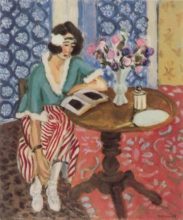 Henri Matisse - La Liseuse au guéridon, 1921