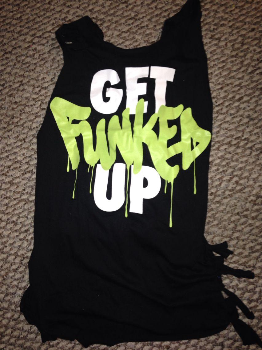 T-shirt design for zumba - Get Funked Up Zumba Workout Shirt