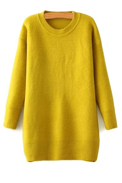 Long Sleeve Yellow Sweater | Apparel | Fashion | Pinterest ...