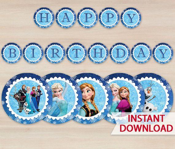Frozen Birthday Banner Printable Frozen Banner Party By: Printable Frozen Banner