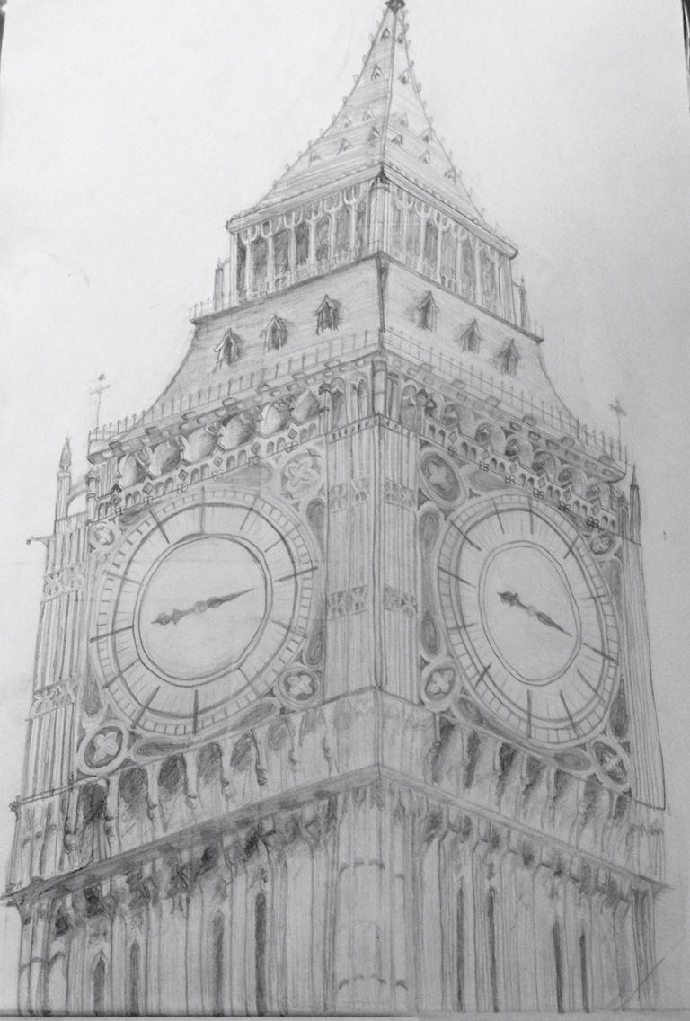 Big ben london pencil line drawing dibujos pencil drawings