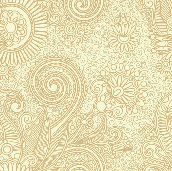 Abstract Seamless Floral Pattern Background Free Vector Site