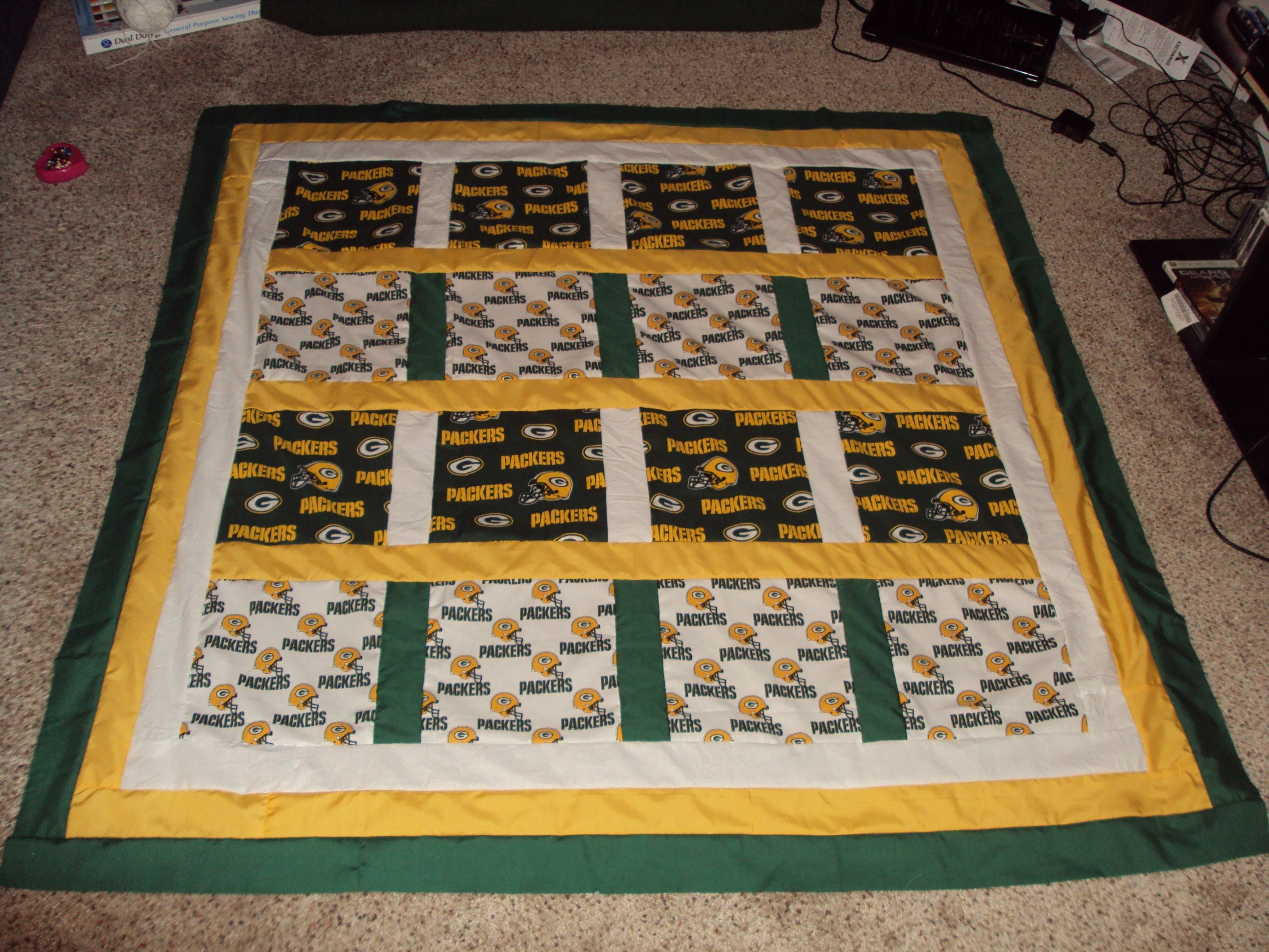 Green Bay Packers Quilt For Sale Football Quilt Sports Quilts Quilts For Sale