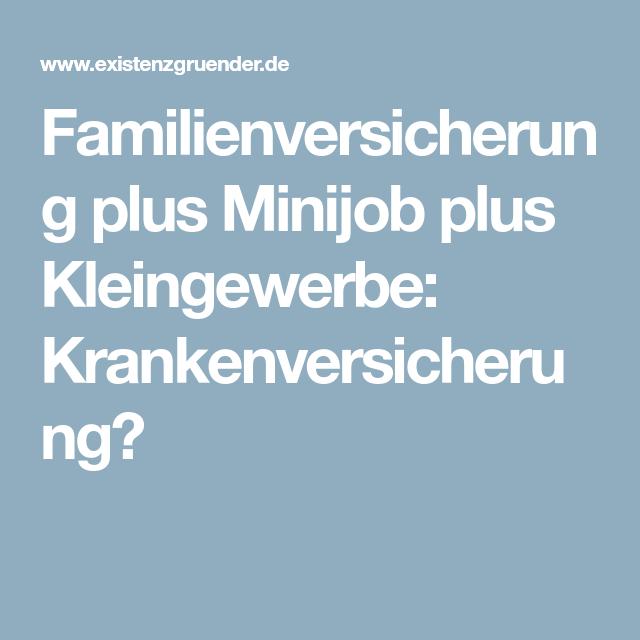 Minijob Und Kleingewerbe