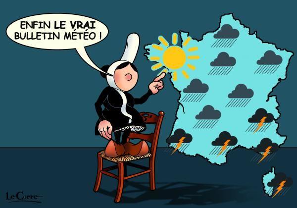 Carte Postale Bretagne Humour.Carte Postale Mam Goz Bulletin Meteo Humour Breton En 2019