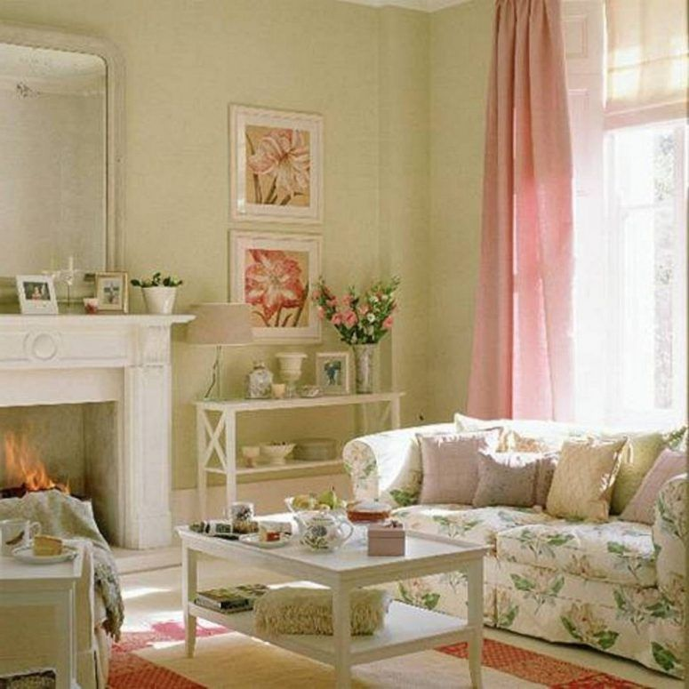 floral shabby chic living room   Cottage Floral Sofa   Guides on How to Create Chic and ...