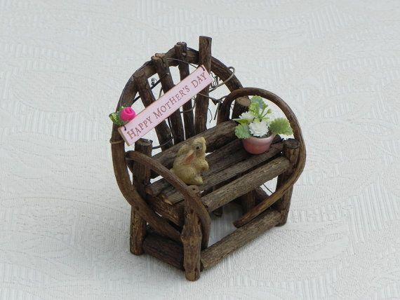 Accessories Flower Bench Miniature Dollhouse FAIRY GARDEN
