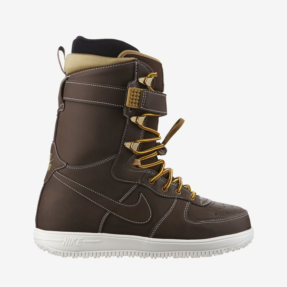 25aa7fed6fd New Nike SB Men's Zoom Force 1 Snowboard Boots Brown Gold White ...