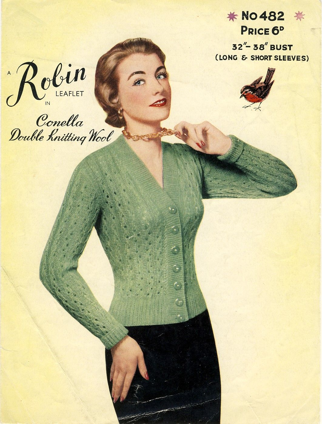 Sold robin no 482 lacy cardigan knitting pattern from the 50s 482 lacy cardigan knitting pattern from the patternalia vintage on etsy bankloansurffo Choice Image