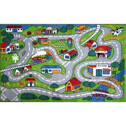 Fun Rugs Fun Time Country Road Kids Rug Kids Area Rugs Cool
